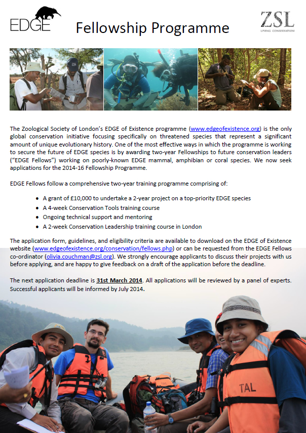 Join ZSL EDGE programme